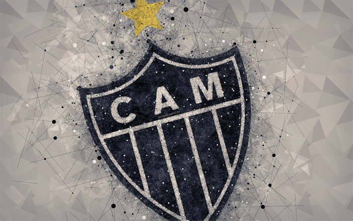 Download Wallpapers Clube Atletico Mineiro Atletico Mg Galo 4k Creative Geometric Art Logo Emblem Brazilian Football Club Art Abstract Background Serie A Belo Horizonte Minas Gerais Brazil Football Campeonato Brasileiro Serie A For