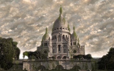 Basilica of the Sacred Heart of Paris, 4k, apocalypse, fantasy, art, world after people, Paris, France, art work