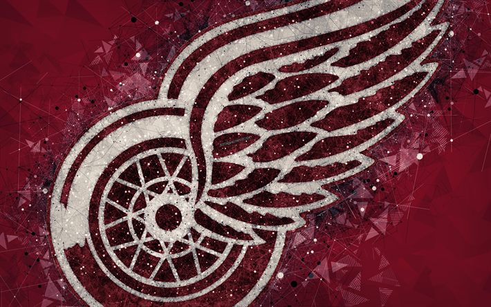 Download Wallpapers Detroit Red Wings 4k American Hockey