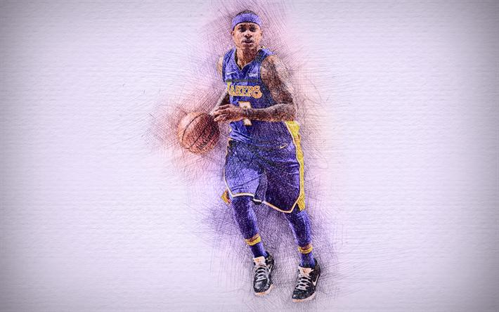 Isaiah Thomas, 4k, artwork, basketball stars, Los Angeles Lakers, NBA,