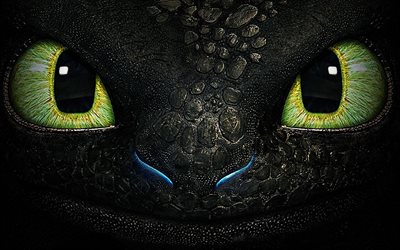 Toothless, close-up, small dragon, How to Train Your Dragon, 3D-animation