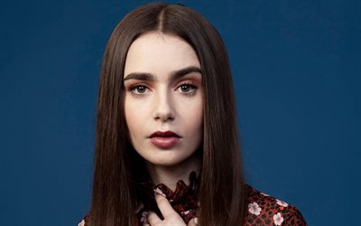 lily collins, us-amerikanische schauspielerin, american fashion model, porträt, make-up, foto-shooting
