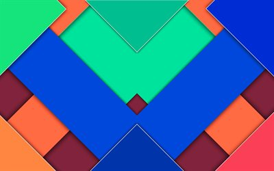 material design, colorful triangles, geometric shapes, lollipop, triangles, creative, strips, geometry, colorful backgrounds