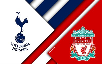 Tottenham Hotspur FC vs Liverpool FC, 2019 UEFA Champions League Final, Tottenham vs Liverpool, football match, material design, promotional materials, logos, Champions Leaguefootball match, Champions League