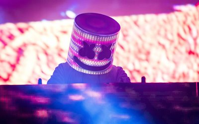 DJ Marshmello, night party, dj station, Christopher Comstock, concert, Marshmello on stage, night club, superstars, Marshmello, DJs