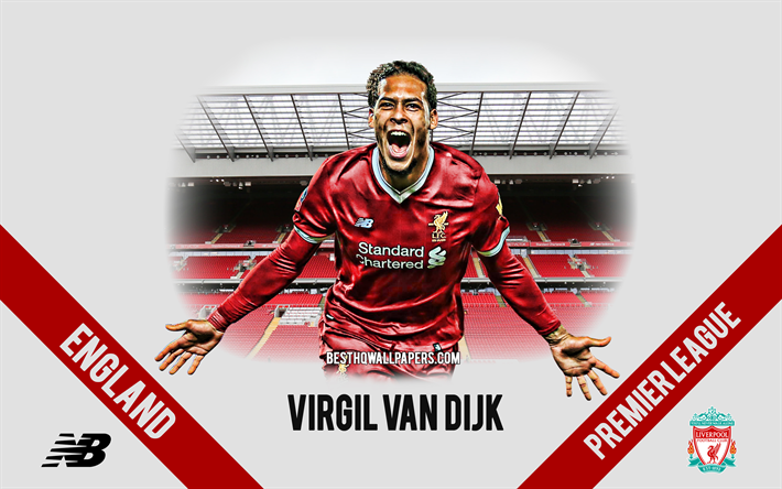 Scarica sfondi Virgil Van Dijk, Liverpool FC, olandese