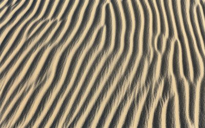 sand waves texture, 4k, macro, sand backgrounds, sand tetures, desert, sand pattern, sand