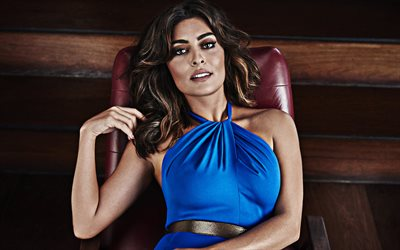 Juliana Paes, photoshoot, blue dress, portrait, brazilian actress, beautiful brazilian woman