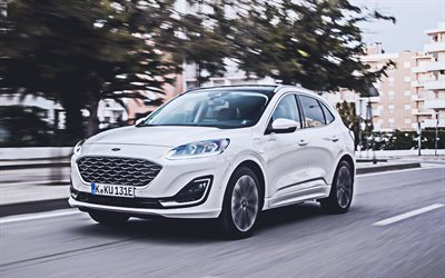 Ford Kuga Vignale Plug-In Hybrid, 4k, street, 2020 cars, crossovers, EU-spec, 2020 Ford Kuga, american cars, Ford