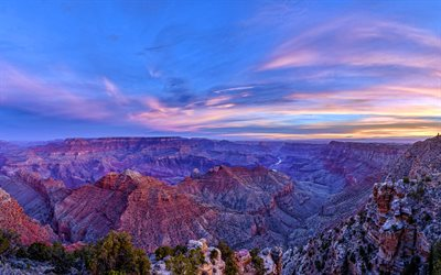 Navajo Canyon, 4k, desert, beautiful nature, morning, sunrise, Arizona, USA, America