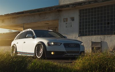 Audi A4 Allroad Quattro, tuning, stance, wagons, low rider, tunnes Audi A4 Allroad, german cars, Audi