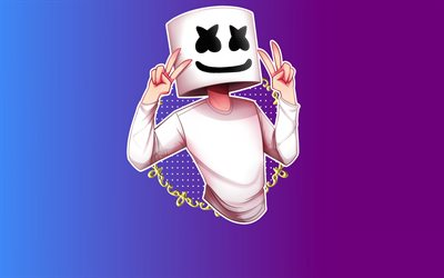 4k, Marshmello, minimal, creative, superstars, DJ Marshmello, Christopher Comstock, DJs