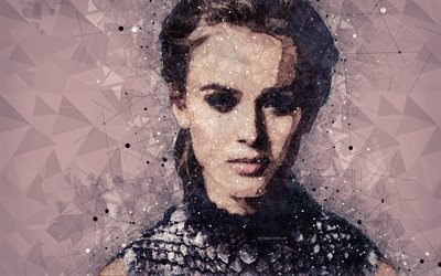 Zara Larsson, art, 4k, creative portrait, Swedish singer, geometric art, face