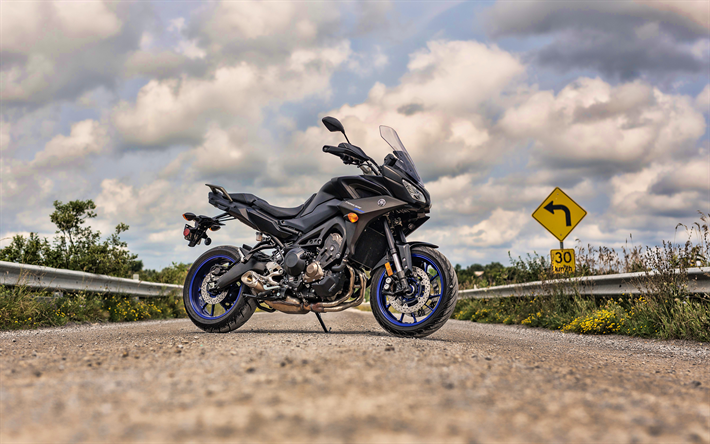 Download Wallpapers Yamaha Tracer 900 GT, 4k, Road, 2019