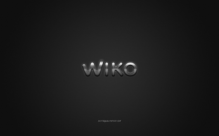 Download Wallpapers Wiko Logo Gray Shiny Logo Wiko Metal