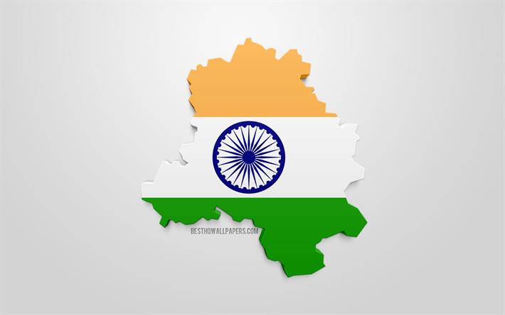 Lataa Kuva Delhi Kartta Siluetti 3d Flag Delhi 3d Art Delhi 3d