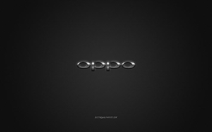 Download Wallpapers Oppo Logo Silver Shiny Logo Oppo Metal