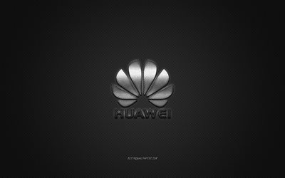 Herunterladen Hintergrundbild Huawei Logo Silber Glänzende