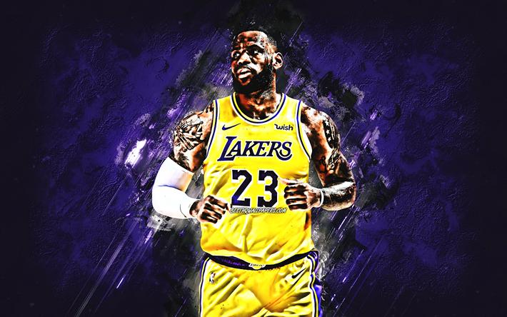 Download wallpapers LeBron James, Los Angeles Lakers, NBA ...
