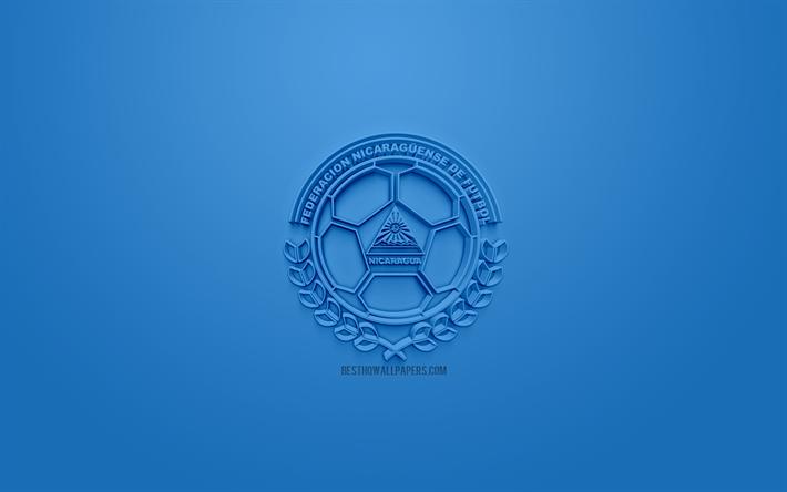 Scarica Sfondi Nicaragua Squadra Nazionale Di Calcio Creativo Logo