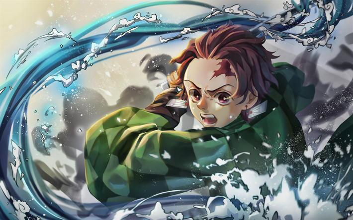 Download Wallpapers Tanjirou Kamado 4k Manga Kimetsu No Yaiba