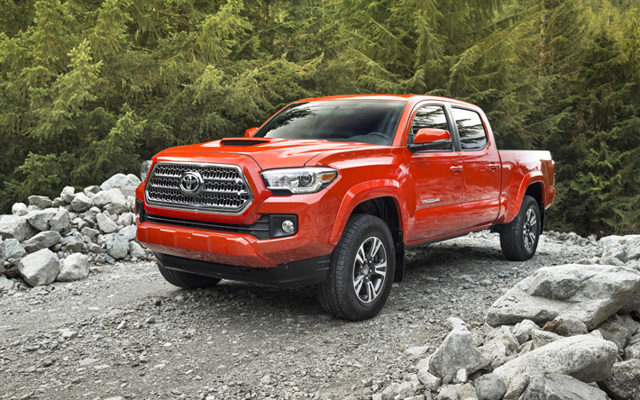 download wallpapers toyota tacoma trd double cab orange tacoma pickup american cars toyota. Black Bedroom Furniture Sets. Home Design Ideas