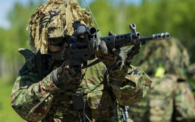 Japanese special forces, camouflage, assault rifle, army, Japan Ground Self-Defense Force, Japan