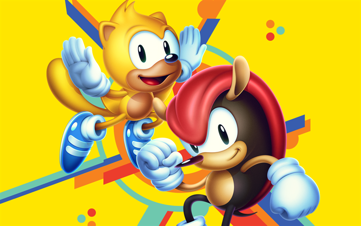 Download Wallpapers Sonic Mania 2018 Games Mighty The