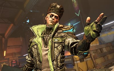 Borderlands 3, 4k, main character, portrait, poster, promo materials, Borderlands
