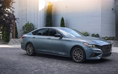 4k, Hyundai Genesis G80 Sport, 2018 cars, luxury cars, korean cars, Hyundai