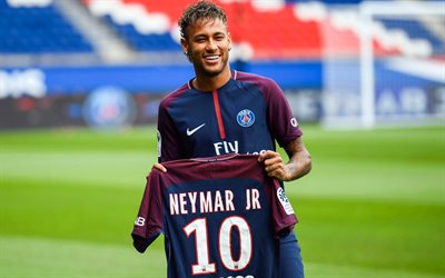 Neymar, footballers, PSG, soccer, Ligue 1, Paris Saint-Germain, Neymar JR, football stars