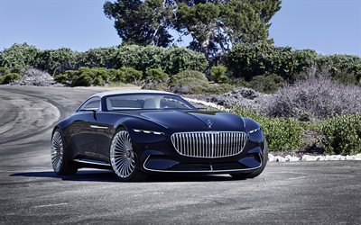 Mercedes-Benz Vision Maybach 6, 2018, Cabriolet Concept, Luxury cars, blue cabriolets, Mercedes