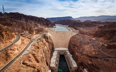 Boulder Dam, Colorado River, Grand Canyon, Arizona, Colorado, USA, Nevada