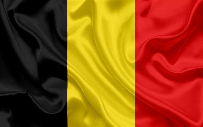 Belga bandeira, Bélgica, Europa, seda, bandeira da Bélgica