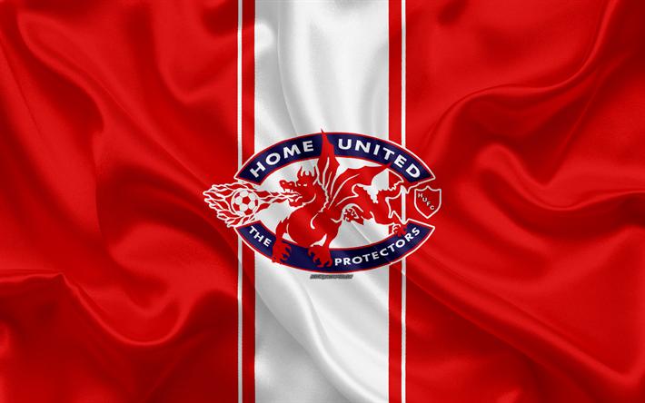 Scarica Sfondi Home United Fc 4k Seta Texture Singapore Football