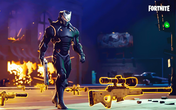 Download Wallpapers 4k Omega Fortnite Season 5 2018 Games Cyber