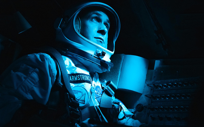 Download Wallpapers 4k Neil Armstrong First Man Poster