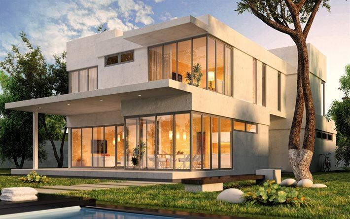 3d Design House, Moderno Design Exterior, Casa Moderna