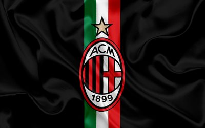 Milan, Italy, football club, Serie A, Italian football, emblem of Milan, logo