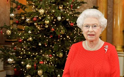 Elizabeth II, portrait, Christmas, Queen of Great Britain, Elizabeth Alexandra Mary
