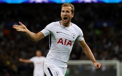 Harry Kane, 4k, footballers, Tottenhan, soccer, Premier League