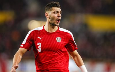 Aleksandar Dragovic, 4k, footballers, soccer, match, Austrian national team