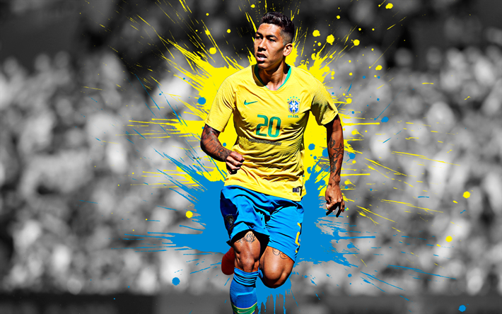Download Wallpapers Roberto Firmino, 4k, Brazilian
