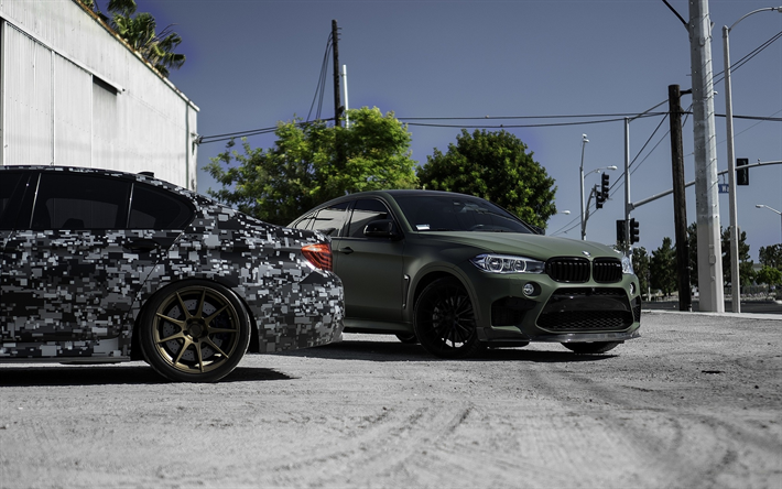 Download Wallpapers Bmw X6m Tuning German Cars F16 2018