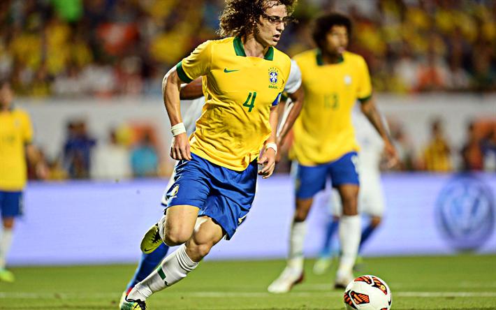Download Wallpapers David Luiz, Brazil National Football