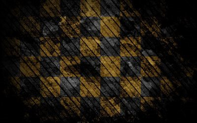 chess board, black yellow board, grunge