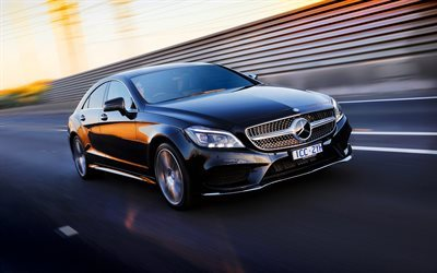 Mercedes-Benz CLS 500 AMG, 2016 cars, AU-spec, C218, black Mercedes