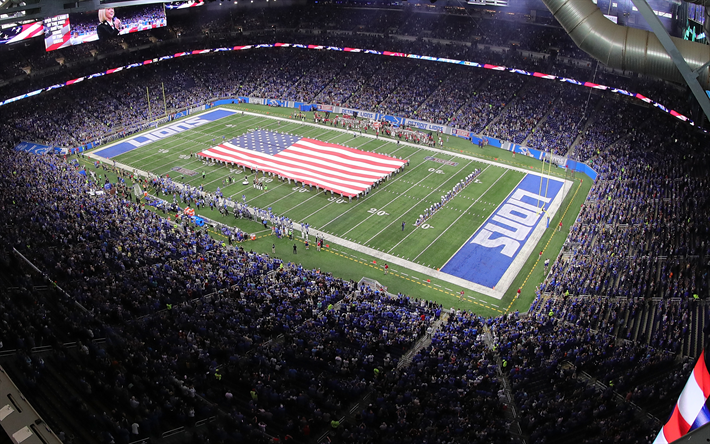 Download Wallpapers Ford Field Detroit Lions Nfl National Football League American Football Stadium Detroit Michigan Usa For Desktop Free Pictures For Desktop Free