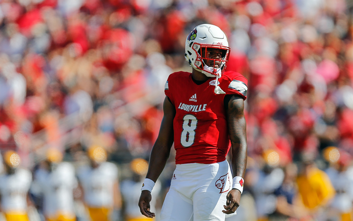 Download Wallpapers 4k Lamar Jackson Match American