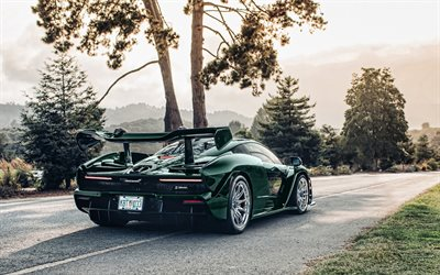 MSO McLaren Senna, tuning, 2018 cars, supercars, green McLaren Senna, english cars, McLaren